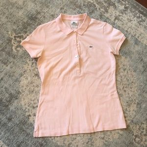 Pink Lacoste polo, size 40